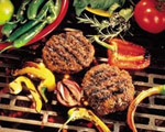 Beef Burgers with Spicy Red Pepper Salsa