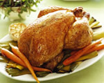 Traditional Roast Chicken with Thyme and Onion Stuffing