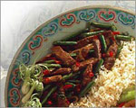 Stir-Fry Steak with Green Beans and Chilli